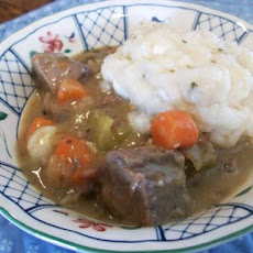 Irish Lamb Stew With Goat Cheese Dumplings