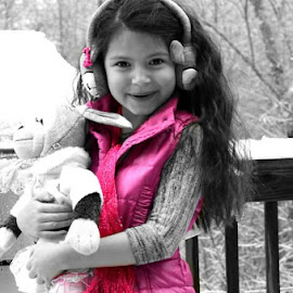 Snow sweetie by Jaime Fain - People Family ( selective color, pwc )