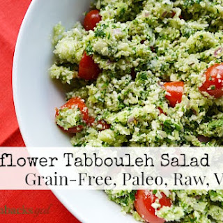 Grain-Free Cauliflower Tabbouleh Salad {Paleo, Raw and Vegan too!}