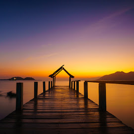 Morning Twilight by Jose Hamra - Landscapes Sunsets & Sunrises ( slowspeed, sumbawa, sunset, pototano, lombok, beach, sunrise, landscape,  )