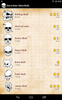 Screenshot of How to Draw: Tattoo Skulls