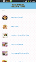 Screenshot of Aneka Resep Sayur dan Tumis