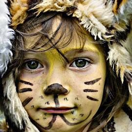 The reluctant tiger by Sue Bernhard - Smith - Babies & Children Child Portraits ( child, face, face paint, boy, portrait, human,  )