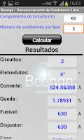 Screenshot of Cálculo - Condutores Elétricos