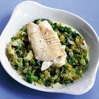 Fish With Peas & Lettuce