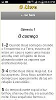 Screenshot of Bíblia O Livro