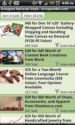 Grouponbot.com Groupon Deals