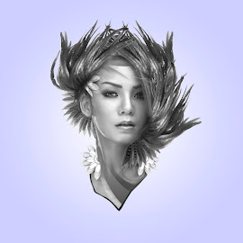furry lady by R Dody Shahputra - Digital Art People ( woman, illustration, design )