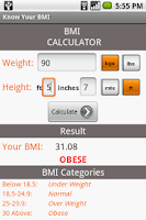 Screenshot of Know Your BMI