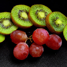 Kiwi & grapes. by Andrew Piekut - Food & Drink Fruits & Vegetables