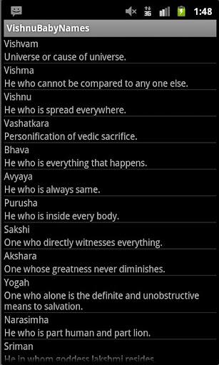 Hindu Baby Vishnu Names