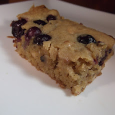 Blueberry Macadamia Blondies