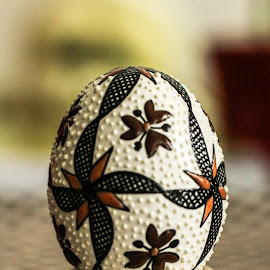 Easter egg by Darkeyes Photography - Artistic Objects Other Objects ( canon, painted, still life, painted egg, handmade, easter decorated egg, traditional, object, egg, canon eos, photography, handpainted, macro, easter, artistic, decorated, artistic objects, bucovina )