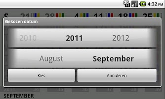Screenshot of shiftcalendar TATA IJmuiden
