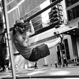 Yeah no big dude by Julie Dabour - City,  Street & Park  Street Scenes ( Urban, City, Lifestyle )