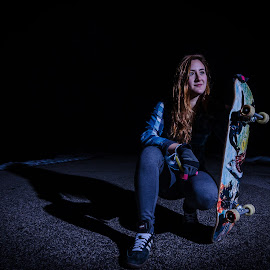 by Jake Del Ponte - Novices Only Sports ( skate, flash, skater, longboard, night, purdue, skateboard )