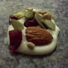 White Chocolate Palettes With Dried Fruit and Nuts