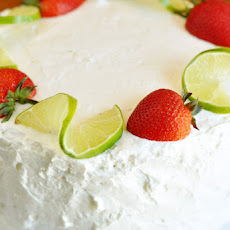 Strawberry-Lime Cream Cake