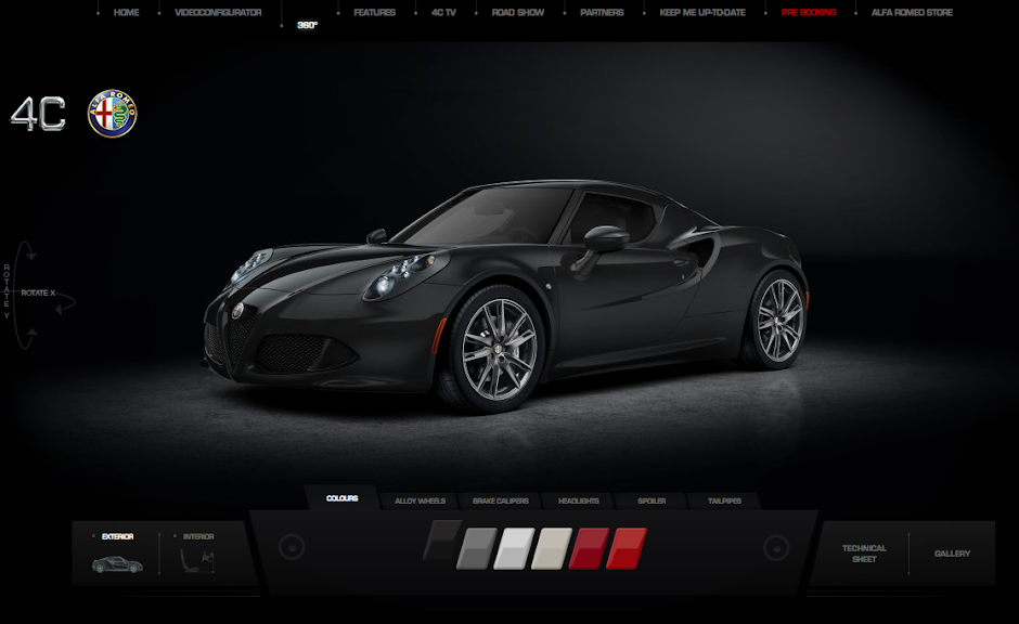 Build Your Own Alfa Romeo 4c Online And Watch It Ride Carhoots