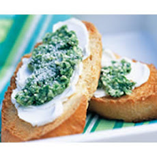 Pesto and PHILLY Light Crostini