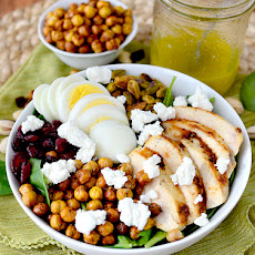 Chicken Power Bowls with Crispy Baked Garbanzo Beans