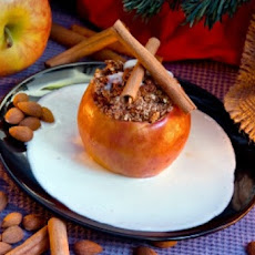 Honey-Glazed Baked Apples Filled with Dried Fruit