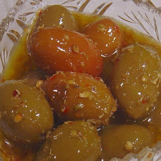 Marinated Green Olives - Chakistes Kibrisli Style