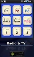 Screenshot of NRK Radio & TV streamer