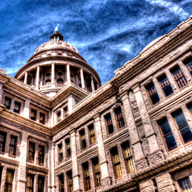 Texas State Capitol Building in Austin, TX by Marc Mulkey - Buildings & Architecture Office Buildings & Hotels ( austin, corner, hdr, texas, state, capitol, photo )