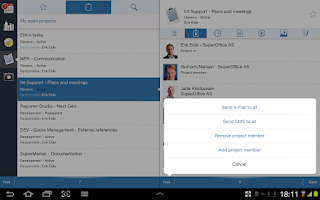 Screenshot of SuperOffice