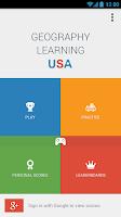 Screenshot of US States Quiz