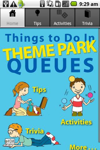 Theme Park Queue Activities