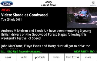 Screenshot of iRally: Rally WRC no FI NASCAR