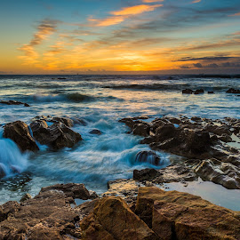 Ocean by Francisco Machado - Landscapes Sunsets & Sunrises ( praia da foz, sunset, francisco machado, mar, landscape )