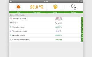 Screenshot of momit Smart Thermostat