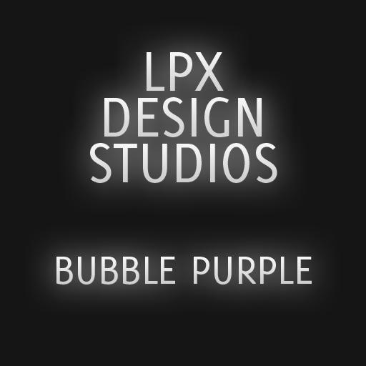 GOSMSTHEME泡泡紫色 個人化 App LOGO-APP試玩