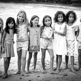 FRIENDS by Zaki Marican - Babies & Children Toddlers ( models, girls, black and white, children, adorable, beach, group,  )