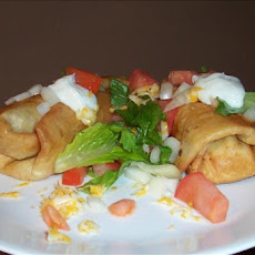 Shredded Beef or Pork Chimichangas