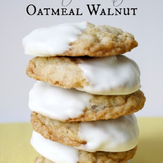 White Chocolate Oatmeal Walnut Cookies