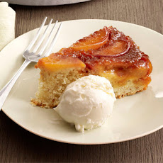 Peach-Almond Upside-Down Cake