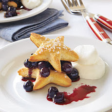 Blueberry Cobbler with Sugared Star Shortcakes