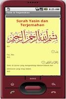 Screenshot of Yasin & Terjemahan