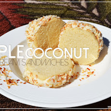 Triple Coconut Ice Cream Sandwiches