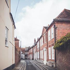 The Pallant by Rachel Morris - City,  Street & Park  Street Scenes ( colour, village, street, homes, lane )