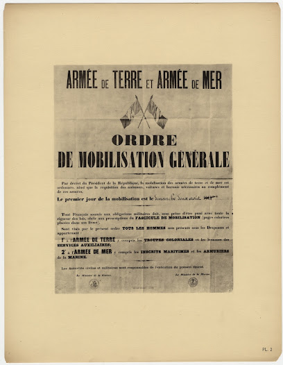 French mobilization poster