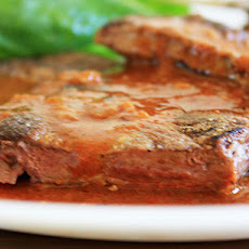 Pan-Seared Liver in Red Chile Sauce