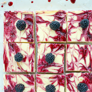 Blackberry Cheesecake Bars With Shortbread Crust