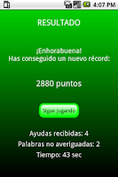 Screenshot of Palabras Encadenadas