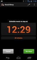 Screenshot of MusicSleep (sleep timer)