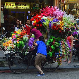 On the street of Hanoi, Vietnam by Andrew Piekut - City,  Street & Park  Street Scenes